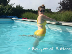 Abigail Swimsuit (A Bouquet of Buttons) Tags: diy lulu sewing swimwear ohhh abigial