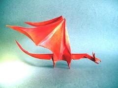 Simple Dragon - Shuki Kato (Rui.Roda) Tags: origami dragon simple papiroflexia kato drago shuki papierfalten