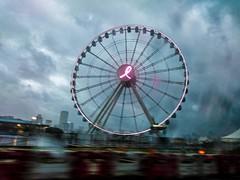 ferris wheel under typhoon (Kai-Ming :-))) Tags: window glass hongkong moving central led rainy rainstorm ferriswheel typhoon mujigae thehongkongobservationwheel