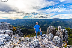 Where I Stand- October 6, 2015 (zachary.locks) Tags: world mountain selfportrait fall up landscape high rocks top north fork hike wv westvirginia tall elevation vast chimneytop whereistand cy365 zlocks