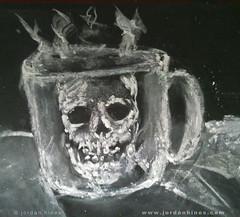 Chalkboard Cranial Coffee Cup - 07201501 (SweetBippie) Tags: art halloween coffee java october mug chalkboard cranium scull misfits steaming cupojoe