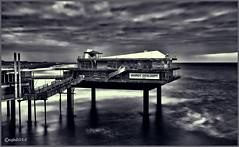 to be demolished. (alamsterdam) Tags: bird beach pier long exposure scheveningen platform demolished