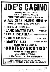 joe's casino 1953 (albany group archive) Tags: albany ny joes casino 1953 nightclub bar green street godfrey rich reiche trio gop tingaling jane matthews lola dealba john emery marty size oldalbany history