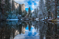Cool Blue - Yosemite National Park (Darvin Atkeson) Tags: california park snow mountains clouds forest nevada canyon sierra glacier national valley yosemite halfdome rest bridalveil elcapitan darvin atkeson darv lynneal yosemitelandscapescom