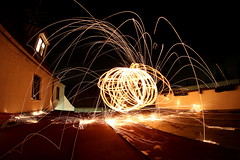 just like that (L.U.T.Z) Tags: longexposure nightphotography roof rooftop night canon exploring experiment 8mm experimenting steelwool fischeye longexpolite