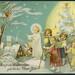 Archiv C385 Gesegnete Weihnachten, glückliches Neues Jahr, 1920er