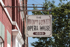 Opera House Sign (Eridony) Tags: walnut pottawattamiecounty iowa smalltown downtown sign