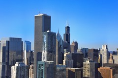 Sears from here (CzechInChicago) Tags: chicago skyline airview panorama skyscrapers sky towers highest horizon horizontal cityscape