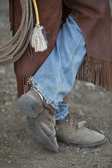 This Is What I Do (thebarkinglot4) Tags: ranch horse spurs cowboy denim lariat wyoming chaps ranching wrangler