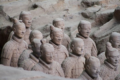 49/52 Terracotta Warriors (SpiritStar) Tags: china old people sculpture male art heritage history grave statue stone museum asian soldier army stand ancient asia antique terracotta cemetary tomb chinese mausoleum xian clay burial pottery warrior ming archeology dynasty emperor qindynasty qinshihuang historicalrelic culturalrelic imperialtomb unearthedrelics terracottafigurine