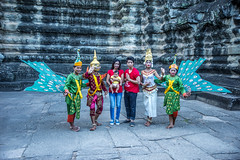 They were posing for a camera (tatlmt) Tags: temple asia cambodia buddha angkorwat siemreap wat