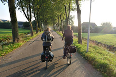 Look Ma! No Hands! (AGrinberg) Tags: road holland netherlands bike rural countryside biking nohands 51844riding2bikes