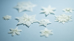 Snowflakes in Guangzhou (ETaXi_) Tags: snowflake blue stilllife 50mm still origami pentax 2015