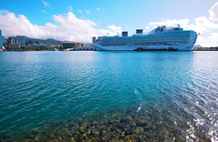 Ruby Princess (iecharleton) Tags: hawaii wideangle po cruiseship honolulu honoluluharbor princesscruiselines rubyprincess