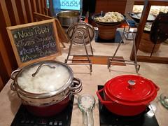 Rice and dishes on the buffet (A. Wee) Tags: jakarta 雅加达 indonesia 印尼 airport 机场 cgk soekarnohatta terminal3 garudaindonesia lounge