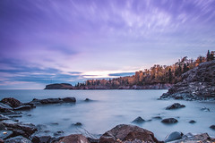 Lake Superior - Autumn 2016 (michaelraleigh) Tags: autumn northshore landscape f28l lakesuperior highquality reflection 2035mm canon fall clouds water longexposure sunset sky silhouette beautiful shovelpoint infocus shadows serene outdoors park canoneos5dmarkii secluded lake minnesota
