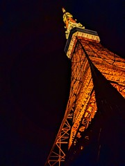 Tokyo Tower (tokyobogue) Tags: japan tokyo tokyotower night nexus6p orange tower