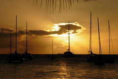 Sails At Sunset (Alan1954) Tags: caribbean sea sunset boats martinique france holiday 2015