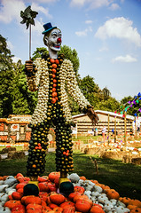 Only somewhat terrifying (Melissa Maples) Tags: ludwigsburg germany europe nikon d5100   nikkor afs 18200mm f3556g 18200mmf3556g vr residenzschloss palace blhendesbarock garden summer krbisausstellung pumpkins pumpkin festival sculpture art circus clown pinwheel