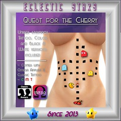 Eclectic Stars - Quest for the Cherry (Jadziyah) Tags: eclecticstars geek pacman tattoo