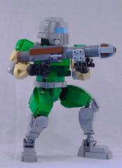 Doomguy (lingonkart) Tags: lego moc doom doomguy spacemarine videogame fps demons ripandtear rocketlauncher