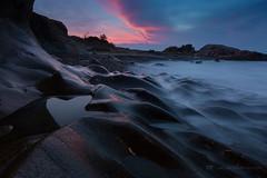 Love (Jackie Tran Anh) Tags: love heart rocks sky clouds sun sunrise sunset longexposure water sea seascape landscape beach cost purple