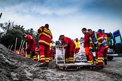 Lifeguard Training in Germany, Karlsruhe (christophjkonrad) Tags: dlrg noah flood training catastrophe lifeguard german karlsruhe katastrophe bung berflutung germany night boat river water longexposure