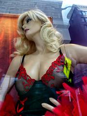 Hustler Mannequin (J Wells S) Tags: mannequin blond blonde negligee portrait hustler cincinnati ohio streetscene urban urbanscene dummy displaydummy