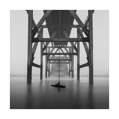 Rope Swing (Nick green2012) Tags: rope swing peir long exposure blackandwh square seascape