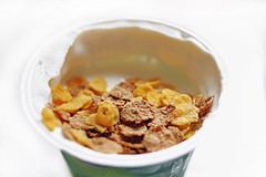 Msli mit Joghurt (wuestenigel) Tags: food dessert cornflakes brunch vitamins breakfast yogurt muesli meal healthy light
