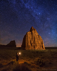"Homage to the Moon Temple (IronRodArt - Royce Bair (""Star Shooter"")) Tags: capitolreef capitolreefnationalpark milkyway starrynight starrynightsky universe nightscape nightphotography nightsky templeofthemoon nightscaper"