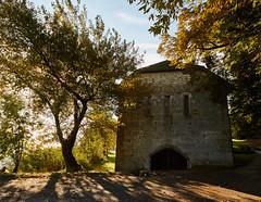 Grange Batelire (standdeb) Tags: abbaye hautecombe savoie architecture nature lac bourgetdulac eau arbre soleil ponton embarcadre france