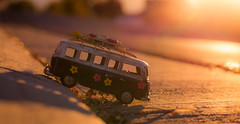on the downhill slope - 295/366 (auntneecey) Tags: van vwbus toys 366the2016edition 3662016 day295366 21oct16 odc warmcolors