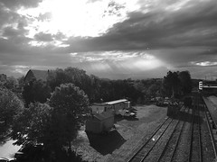 View from Belmont bridge (davekrovetz) Tags: virginia charlottesville iphoneography iphone monochrome blackandwhite clouds weather