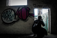easy peasy (perksyy) Tags: urbex abandonded urban explore mental hospital mill rule thirds camera nikon nike person