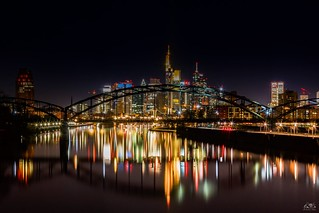 The true colours of Frankfurt Skyline