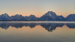 Sunrise Reflection in Jackson Lake (LG G4) (Jeffrey Sullivan) Tags: lg g4 mobile phone camera images smartphone cellphone california usa photo copyright 2015 jeff sullivan september road trip jackson lake reflection grand teton national park