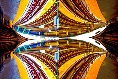 4D Metro in Coney (Lisa Milas) Tags: angles coney island nyc metro subway optical illusion distort canon