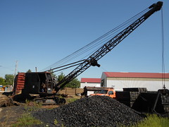 Koehring crane with clam shell IRM (Philsiron) Tags: irm union illinois crane koehring dragline clam shell bucket antique coal steam engine locomotive