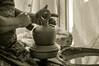 Alfarería en la Alpujarra (Eduardo Guerra Claros) Tags: andalucía artesanía blancoynegro byn escultura españa estilodevida europa fotografia granada jarron otoño pampaneira es alpujarra sierra people ceramic art clay sculpture artisan pot decoration man traditional jug craft vintage
