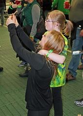 Selfie time (C.P. Kirkie) Tags: ducks universityoforegoncheerleading oregon oregonducks oregoncheer autzenstadium eugene cheerleader cheerleading ndss ndsc downsyndrome