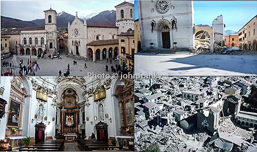 Norcia prima e dopo il terremoto-Norcia before and after the earthquake