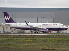 China West Air. First Flight For The A320. (Jacques PANAS) Tags: china west air airbus a320214wl fwwdl msn7406 b8846