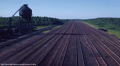 MORNING view of the Great Northern Railway at Kelly Lake, Minnesota 1953 (Twin Ports Rail History) Tags: twin ports rail history by jeff lemke time machine kelly lake minnesota 1953 mesabi iron ore train railway railroad range division ogle steel coaling tower cars fuel oil tank
