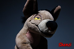034-Standing Proud (Univaded Fox) Tags: shenzi hyena the lion king plush disney store photography experiment dramatic lighting filters photoshop univaded