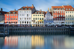 Copenhagen Scenery - Nyhavn (baddoguy) Tags: architecture blue buildingexterior builtstructure capitalcities cityscape colorimage copenhagen copyspace day denmark europe europeanculture famousplace horizontal longexposure multicolored nopeople nyhavn oresundregion outdoors pedestrianwalkway photography reflection scandinavia tranquilscene tranquility waterfront