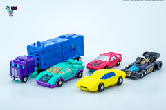 G2_Stunticons_vehicles (Weirdwolf1975) Tags: tfylp transformers podcast megatoyfan g2 generation2 defensor protectobots streetwise firstaid blades groove hotspot stunticons menasor motormaster deadend wildrider breakdown dragstrip unreleased