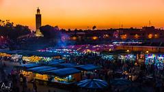 IMG_6488-2 (alitopics) Tags: marrakech maroc place jamaa djamaa elfna el fna tourism sunset travels