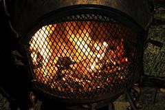 Winter Warmth (PeterAitch) Tags: chimenea cheshire warmth cosy fire wood night tripod d700 outdoor autumn november uk