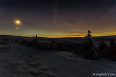 Just after sunset in mountains (Mieczysław Skrzypski) Tags: kpn national sudety cold freeze frost ice karkonosze karkonowski landscape mountain mountains narodowy night outdoor park sky snow star stars winter sun sunset